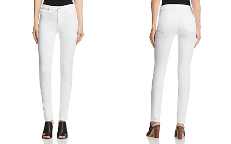 AG Prima Mid-Rise Cigarette Sateen Jeans in White - Bloomingdale's_2
