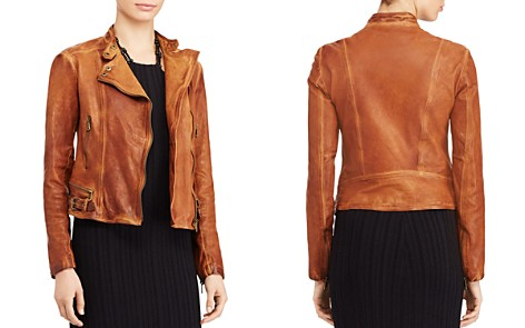 Lauren Ralph Lauren Burnished Leather Moto Jacket - Bloomingdale's_2