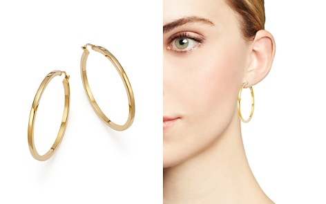 Bloomingdale's 14K Yellow Gold Extra Large Hoop Earrings - 100% Exclusive_2