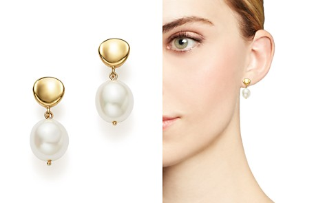 Bloomingdale's Cultured Freshwater Pearl Drop Earrings in 14K Yellow Gold, 8mm_2