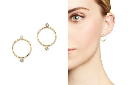 Zoë Chicco 14K Yellow Gold Diamond Circle Ear Jackets - Bloomingdale's_2