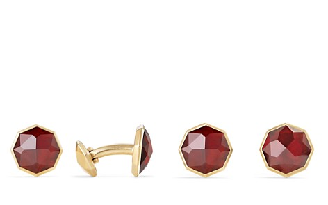 David Yurman Fortune Faceted Cufflinks with Garnet in 18K Yellow Gold - Bloomingdale's_2