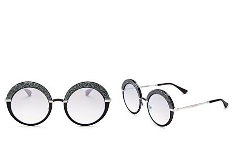 Jimmy Choo Women's Gotha Glitter Round Sunglasses, 50mm - Bloomingdale's_2