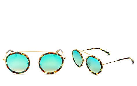 Krewe Women's Conti 24K Mirrored Round Sunglasses, 46mm - Bloomingdale's_2
