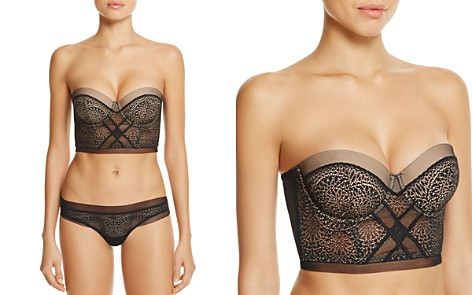 Calvin Klein CK Black Endless Strapless Bra & Thong - Bloomingdale's_2