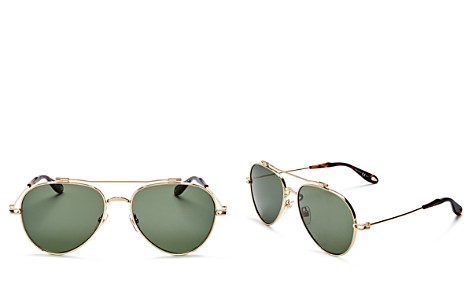 Givenchy Double Brow Bar Aviator Sunglasses, 58mm - Bloomingdale's_2