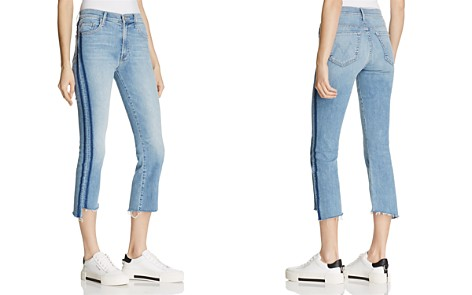 MOTHER Insider Crop Step Fray Jeans in Light Kitty - 100% Exclusive - Bloomingdale's_2