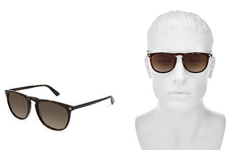 Gucci Polarized Keyhole Square Sunglasses, 53mm - Bloomingdale's_2