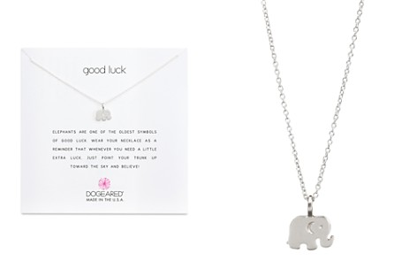 "Dogeared Sterling Silver Good Luck Elephant Necklace, 16"" - Bloomingdale's_2"