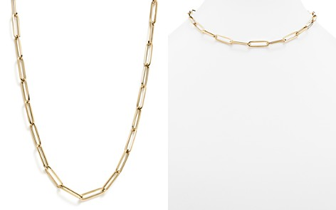 "Thin Link Collar Necklace in 14K Yellow Gold, 19"" - 100% Exclusive - Bloomingdale's_2"