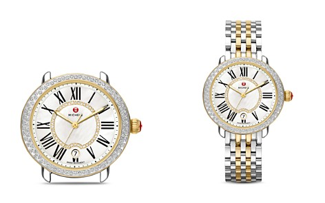 MICHELE Serein 16 Two Tone Diamond Dial Watch Head, 36 x 34mm - Bloomingdale's_2