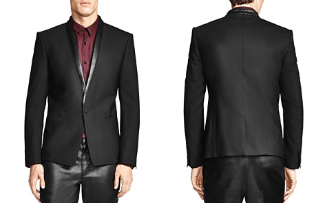 The Kooples Classic Fit Sport Coat with Leather Detailing - Bloomingdale's_2