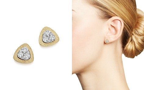 Diamond Triangle Stud Earrings in 14K Yellow and White Gold, .50 ct. t.w. - 100% Exclusive - Bloomingdale's_2