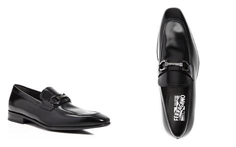 Salvatore Ferragamo Men's Dinamo Double Gancini Bit Almond Toe Leather Loafers - Bloomingdale's_2