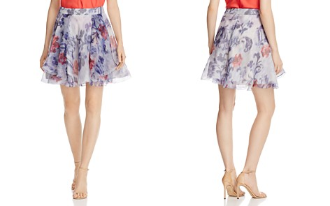 Armani Collezioni Floral-Print Silk A-Line Skirt - Bloomingdale's_2