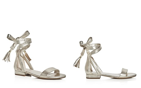 Kenneth Cole Valen Metallic Ankle Tie Sandals - Bloomingdale's_2