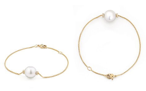 David Yurman Solari Single Station Bracelet in 18K Gold with Diamonds and South Sea Cultured Pearl - Bloomingdale's_2