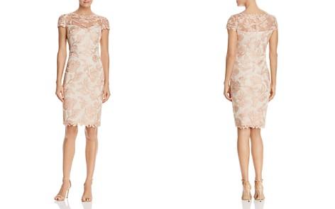 Tadashi Shoji Short Sleeve Lace Cocktail Dress - Bloomingdale's_2