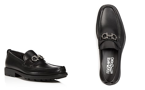 Salvatore Ferragamo Men's David Double Gancini Bit Thick Lug Leather Loafers - Bloomingdale's_2