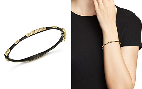 Armenta 18K Yellow Gold and Blackened Sterling Silver Old World Diamond and White Sapphire Bracelet - Bloomingdale's_2