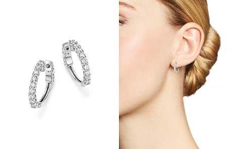 Diamond Hoop Earrings in 14K White Gold, .75 ct. t.w. - 100% Exclusive - Bloomingdale's_2