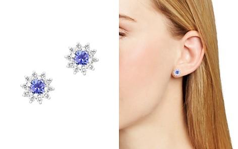 Tanzanite and Diamond Stud Earrings in 14K White Gold - 100% Exclusive - Bloomingdale's_2