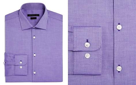 John Varvatos Star USA Textured Solid Slim Fit Stretch Dress Shirt - Bloomingdale's_2