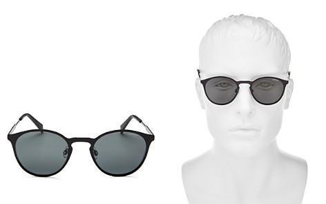 Polaroid Polarized Round Keyhole Sunglasses, 49mm - Bloomingdale's_2