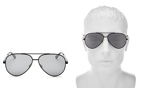 Saint Laurent Men's Zero Base Brow Bar Aviator Sunglasses, 61mm - Bloomingdale's_2