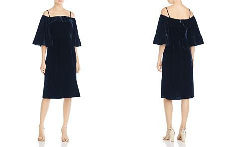 Whistles Velvet Cold-Shoulder Dress - 100% Exclusive - Bloomingdale's_2