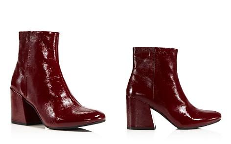 Kenneth Cole Randii Patent Leather Block Heel Booties - Bloomingdale's_2