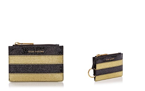 MARC JACOBS Glitter Stripe Top Zip Leather Wallet - Bloomingdale's_2