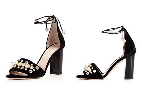 kate spade new york Iverna Embellished Velvet Lace Up High Heel Sandals - Bloomingdale's_2