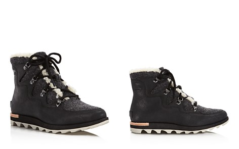Sorel Women's Sneakchic Alpine Shearling and Leather Lace Up Booties - 100% Exclusive - Bloomingdale's_2