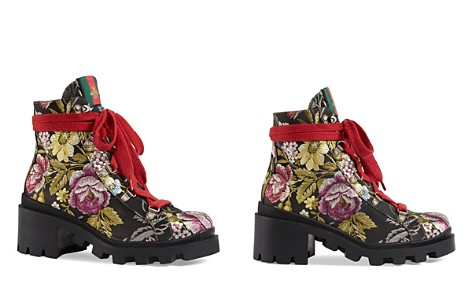 Gucci Trip Jacquard Lace Up Hiking Booties - Bloomingdale's_2