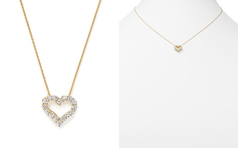 Diamond Heart Pendant Necklace in 14K Yellow Gold, .25 ct. t.w. - 100% Exclusive - Bloomingdale's_2