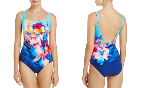 Gottex Hawaii Square Neck One Piece Swimsuit - Bloomingdale's_2