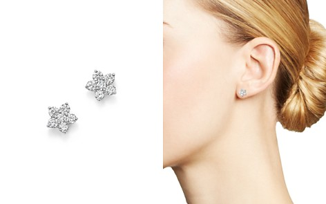 Diamond Flower Small Stud Earrings in 14K White Gold, .70 ct. t.w. - 100% Exclusive - Bloomingdale's_2