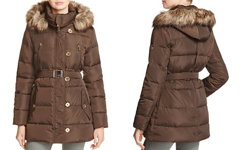 MICHAEL Michael Kors Faux Fur Belted Puffer Coat - Bloomingdale's_2