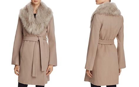 T Tahari Flora Faux Fur-Trim Wrap Coat - Bloomingdale's_2