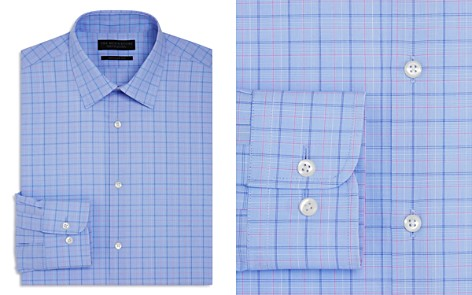 The Men's Store at Bloomingdale's Large Grid Check Overcheck Regular Fit Dress Shirt - 100% Exclusive_2