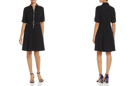 MICHAEL Michael Kors Half-Zip Shirt Dress - Bloomingdale's_2