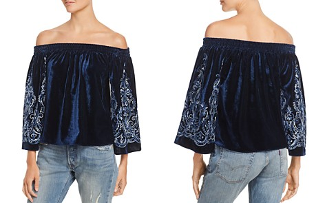 MISA Los Angeles Embroidered Off-the-Shoulder Top - Bloomingdale's_2