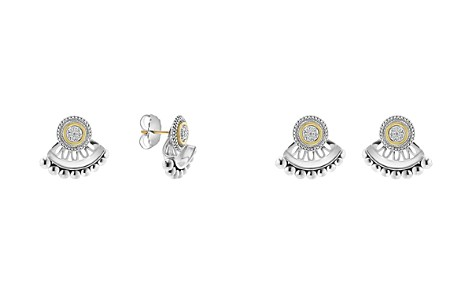 LAGOS 18K Gold and Sterling Silver Signature Caviar Diamond Ear Jackets - Bloomingdale's_2