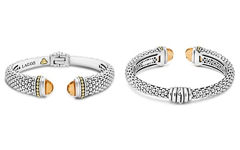 LAGOS 18K Gold and Sterling Silver Caviar Color Citrine Cuff, 12mm - Bloomingdale's_2