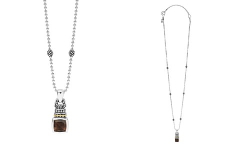 "LAGOS 18K Gold and Sterling Silver Caviar Color Pendant Necklace with Smoky Quartz, 16"" - Bloomingdale's_2"