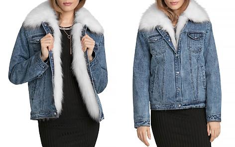 Avec Les Filles Faux Fur Trim Denim Jacket - Bloomingdale's_2