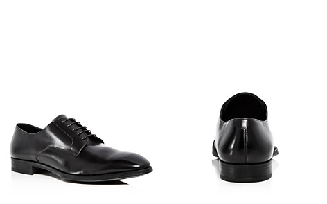 Armani Men's Leather Plain Toe Oxfords - Bloomingdale's_2