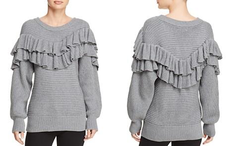 dRA Merriam Ribbed-Knit Ruffled Sweater - Bloomingdale's_2