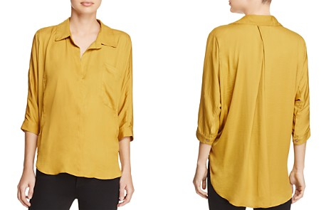 dRA Marie Collared V-Neck Shirt - Bloomingdale's_2